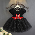 Summer Children Sequin Christening Dress Girls Layer Mesh Tutu Bow Dresses For Party Clothing 3 to 8 Years Vestido Infantil