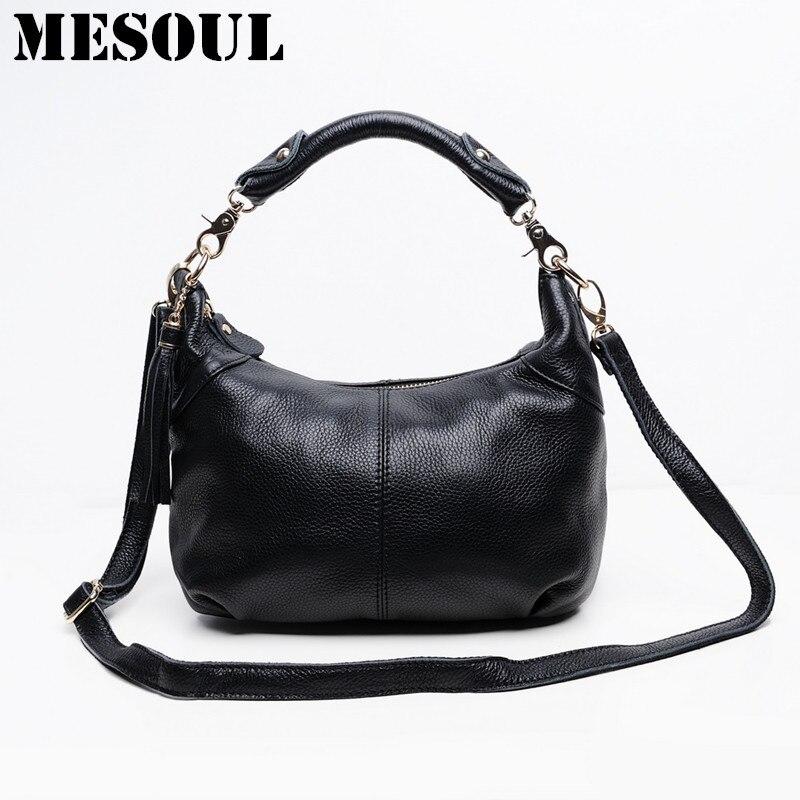 Candy color Fashion women Bags 100 Genuine Leather Women s Shoulder Handbag hobos Casual Purse Satchel