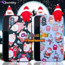 New year gift Phone Case For Xiaomi Mi A2 Mi A1 6X 5X Redmi Note 5 pro Silicone Cute Cartoon Christmas Santa Claus Elk Soft TPU(China)