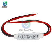Mini 3 Schlüssel Für Single Farbe LED Helligkeit Dimmer Controller Schalter Für 3528 5050 5630 5730 3014 LED Streifen Licht 12 V