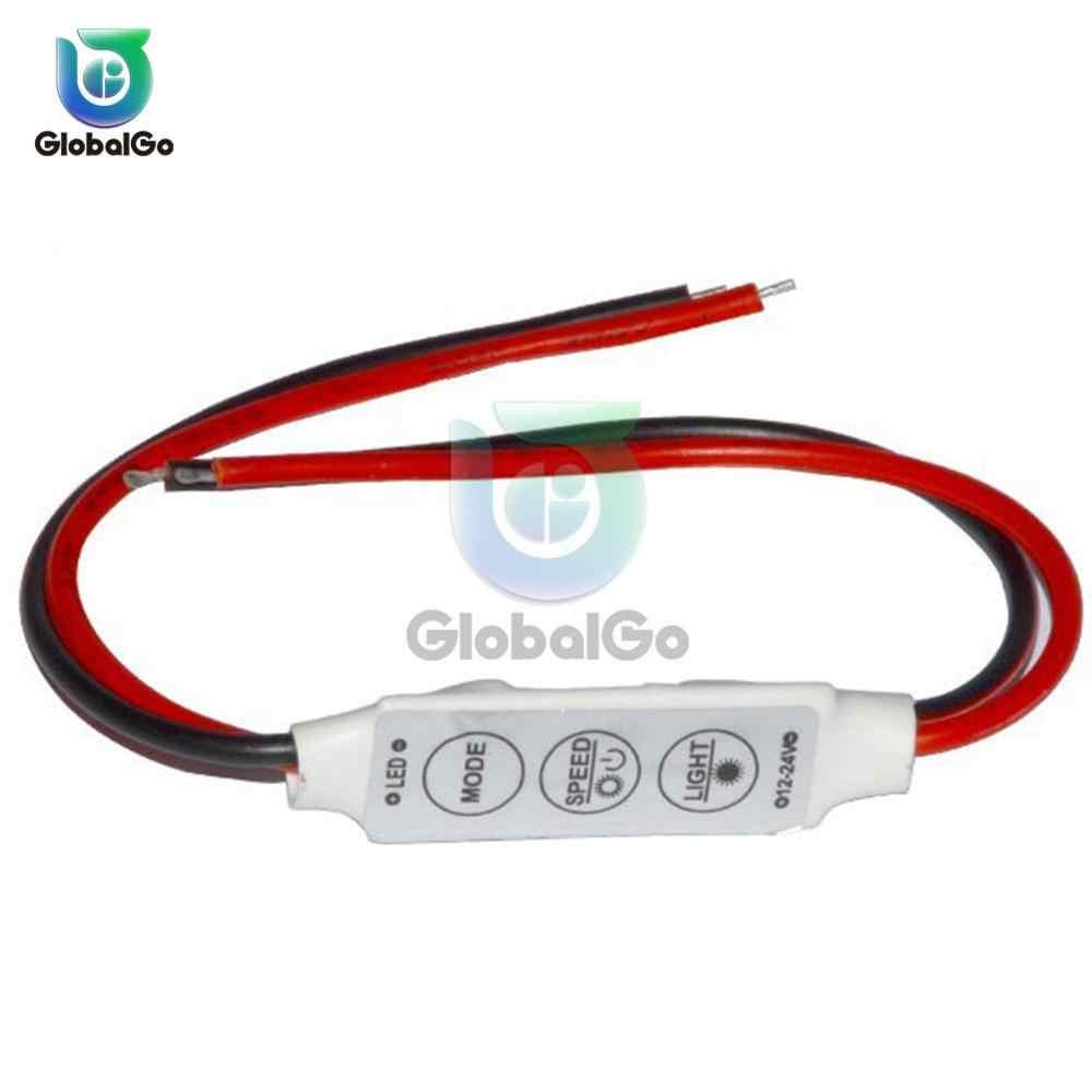 Mini 3 klawisze do pojedynczego koloru jasność diody LED sterownik ściemniacza przełącznik dla 3528 5050 5630 5730 3014 LED pasek światła 12 V