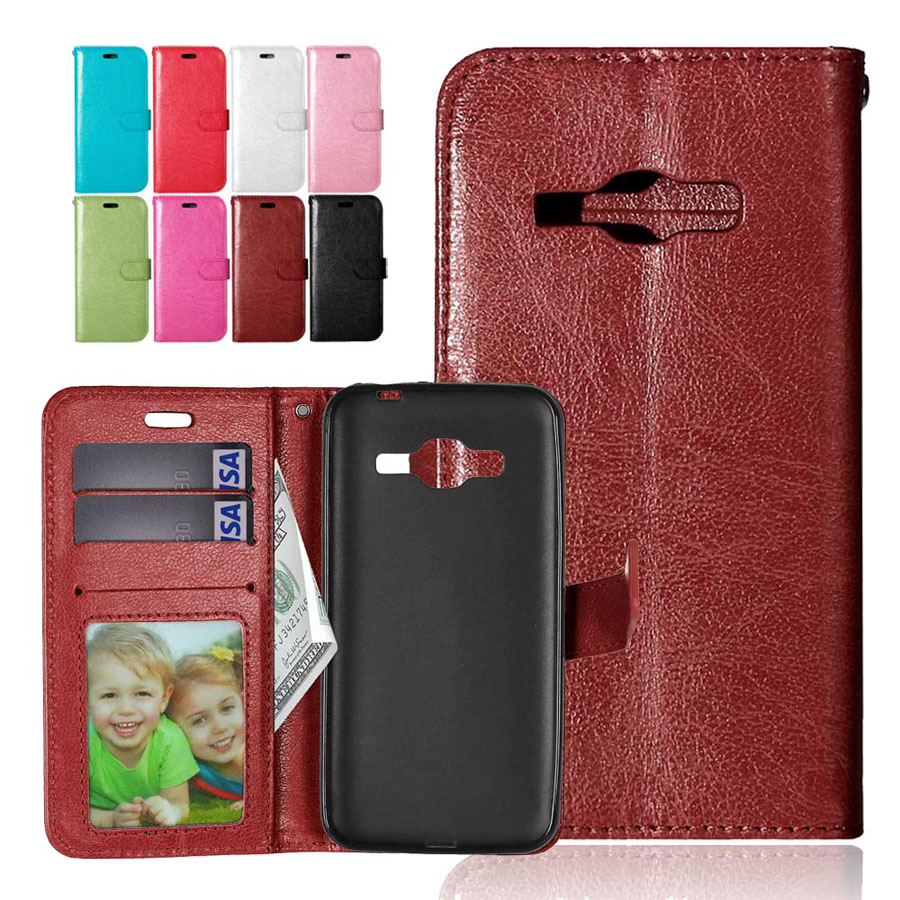 Wallet Style PU Leather Flip Stand Photo Frame Case Cover For Samsung Galaxy J1 2016 J120 J120F J1, 6 SM-J120F / DS 4.5 inch