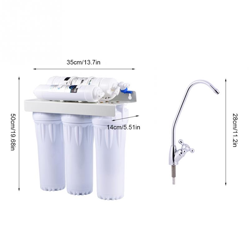 6 Stage Water Purifier Filter Reverse Osmosis Drinking Water Filtration System Fountain for Home Water Filter System