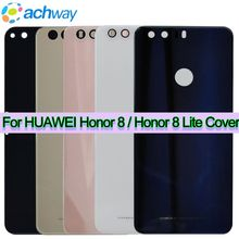 Huawei Honor 8 Lite Back Glass Battery Cover For Huawei Honor 8 Lite Back Glass Cover Honor8 Lite Rear Door Housing Case Panel(China)