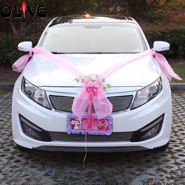 Artificial flowers garland wedding decoration car flowers foam roses artificial flowers garland wedding decoration car flowers foam roses decorative tulle wreath flowers diy wedding party junglespirit Choice Image