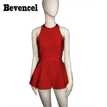 Bevencel Wholesale 2016 Women Sexy Tops SLeveless Ruffles Backless O Neck Fashion Party Club Crop Top