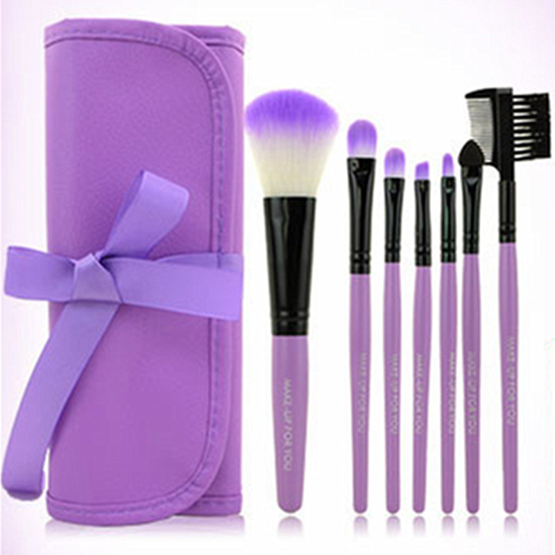 New 7pcs Kit Makeup Brushes Professional Set Cosmetic Lip Blush Foundation Eyeshadow Brush Face Make Up Tool Beauty Essentials professional 15pcs set facial makeup brushes set eyeshadow eye make up brush beauty blush powder foundation cosmetic brush tool