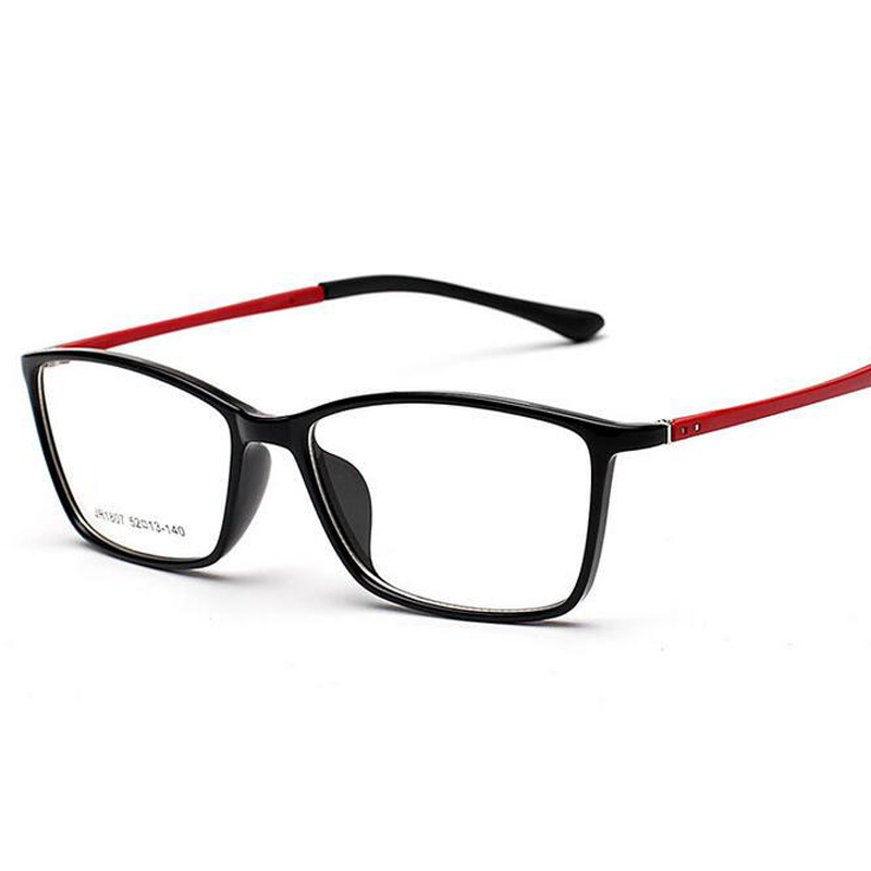 Retro Spectacle Frames Clear Lenses Men Women Optical Frames Glasses TR90 Soft Leg Gafas De Ver 1807 Clear Fashion Glasses