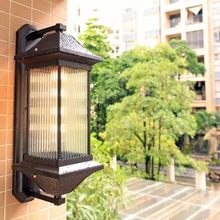HAWBERRY LED outdoor waterproof European coffee shop wall lamp retro American interior stairwell door wall corridor light american interior