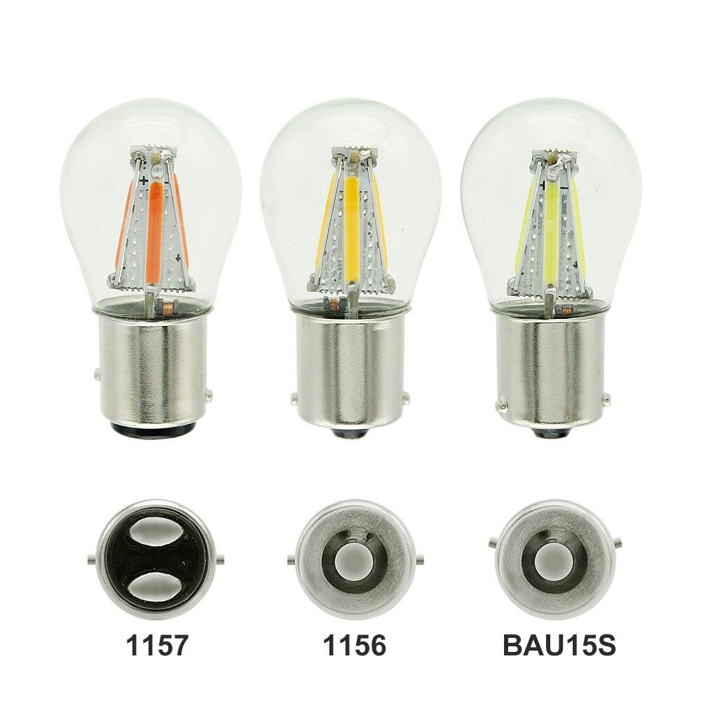 1 шт. 1156 P21W BA15S 1157 BAY15D COB светодиодный чип накаливания Автомобильные стоп-сигналы автомобильная лампа заднего хода Стояночная лампа 12 В красн...