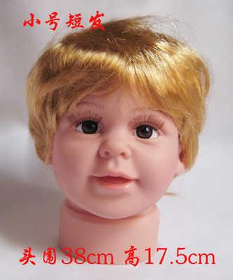 CAMMITEVER Crianças Baby Boy Mannequin Cabeça com Cabelo Cabeça de Boneca Bonecas de Cabeça Com Peruca Vitrine Para Exposição Dos Vidros do Chapéu