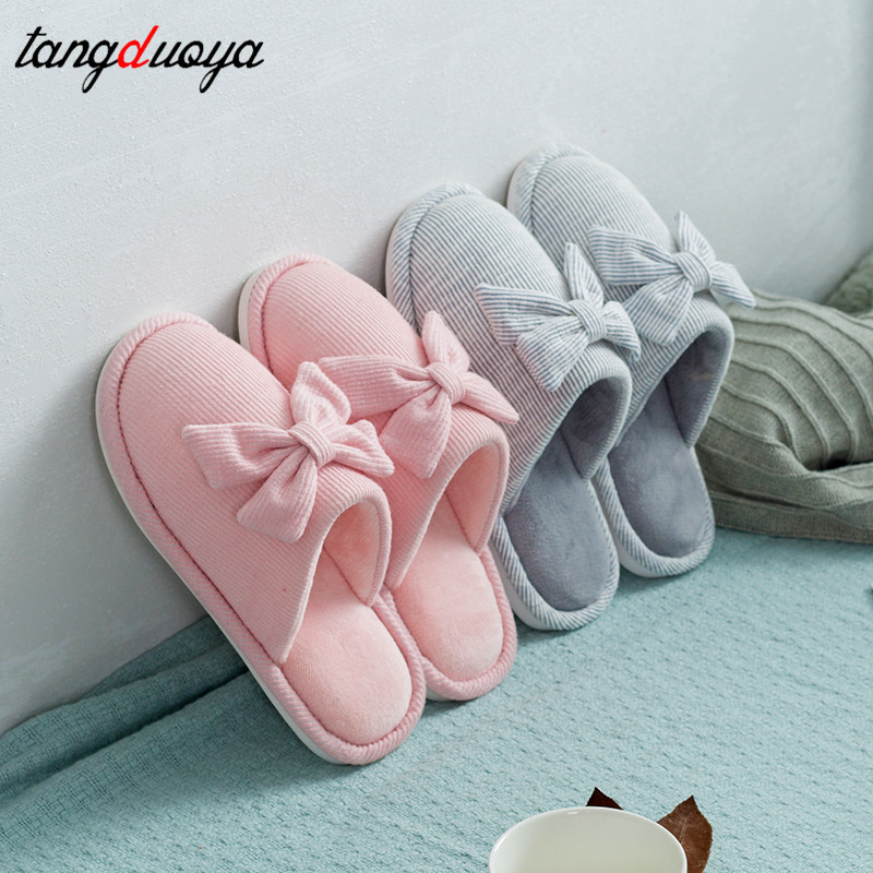 couple slippers women winter shoes men slippers home indoor shoes men home shoes for women slippers warm stripes bow flats fashion stars and stripes pattern bow tie for men