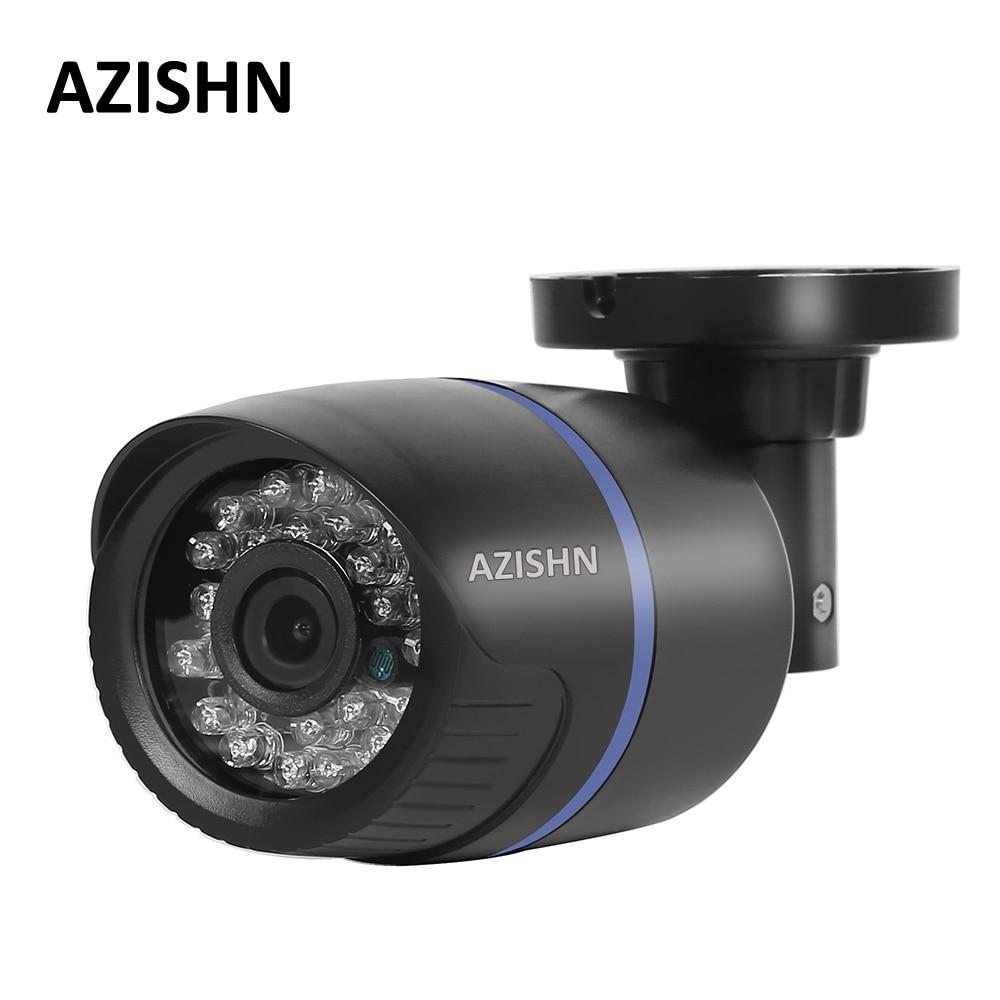 AZISHN 2,8mm ancho cámara IP 1080 p 960 P 720 p ONVIF P2P detección de movimiento RTSP alerta XMEye 48 V POE vigilancia CCTV al aire libre