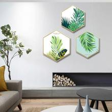 Nordic fresh Green plant wall painting living room background corridor mural Hotel decorative