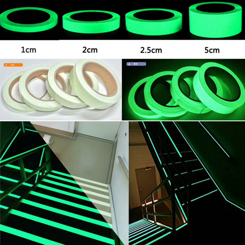 Image 4 - Glow In Dark Tape Photoluminescent Luminous Tape Self adhesive Stage Home Decoration-in Warning Tape from Security & Protection