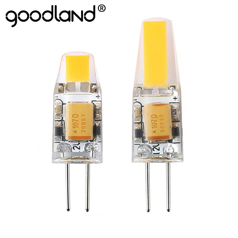 Goodland G4 LED Lamp 3W 6W G4 COB LED Bulb 12V AC/DC Mini G4 LED Light 360 Beam Angle Replace Halogen Lamp Chandelier Lights 5pcs lot 2017 g4 ac dc 12v led bulb lamp smd 6w dimmable replace halogen lamp light 360 beam angle luz lampada led