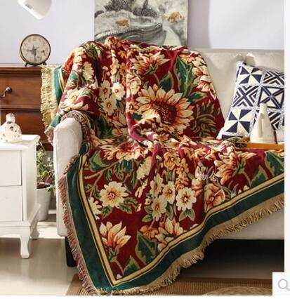 Европа и США современные одеяла хлопковые одеяла Европейский диван полотенце коврики эрк ...