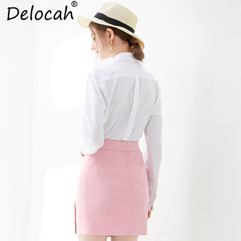 Delocah Herbst Frauen Hemd Runway Fashion Langarm Elegante Floral Print Pailletten Perlen Weiß Blusen Casual Tops 2019-in Blusen & Hemden aus Damenbekleidung bei  Gruppe 3