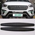 4 pcs Preto New Universal Fit Front & Rear Bumper Protector Canto Guarda Zero Adesivo