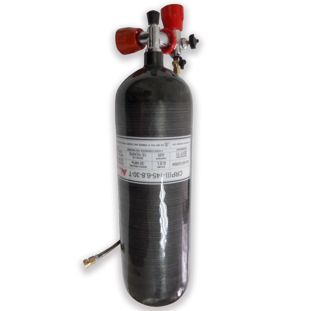 AC368101 Gauge ventil & füllen station & 6.8L 60 min 300bar 4500psi GB Paintball Carbon Faser zylinder/Tankairsoft Luft pistolen/Rifle