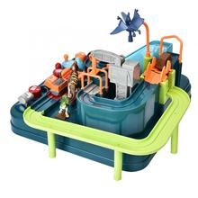 new dinosaur adventure inertia taxi track elevator race puzzle toy birthday gift Christmas surprise
