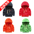 Male child pullover sweatshirt child hoodie 2017 children's spring and autumn clothing cotton baby 100% plus velvet top