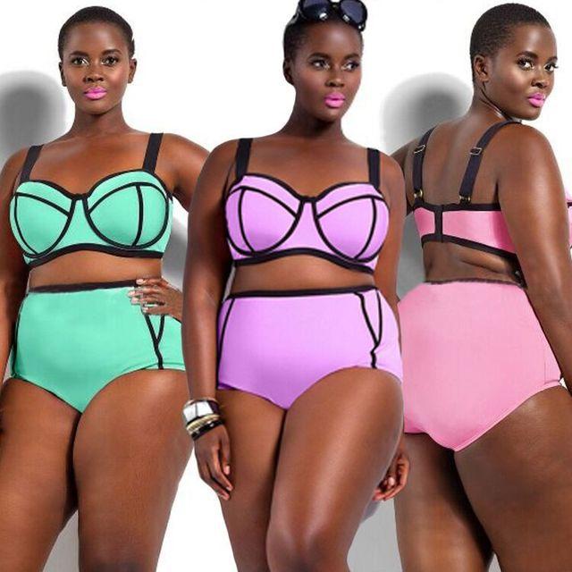 0451128ecb2d ... Maiô Das de Cintura Alta Biquíni Sexy xl 4x. 2017 Swimwear Women Plus  Size Swimsuit Women Swimwear High Waist Bikini Plus Size Swimwear Sexy Women