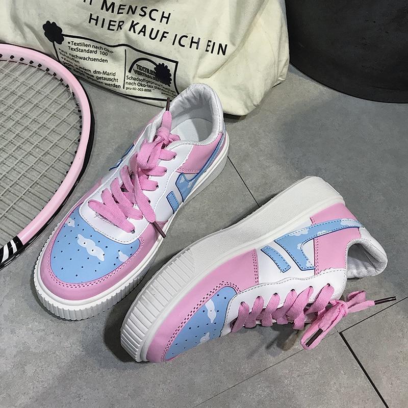 Kawaii Pink & Blue Sky Spring Shoes 2