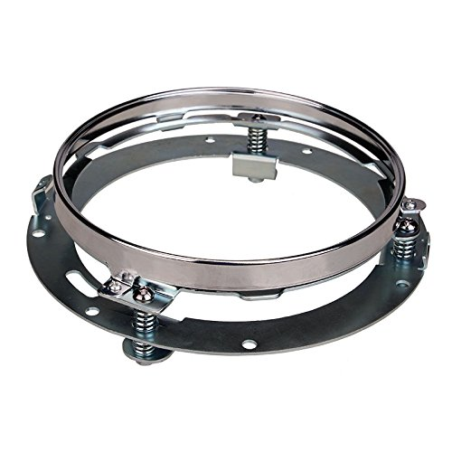 SANVI 7 inch Round Headlight Ring Mounting Bracket for Harley Davidson Headlight Mount usb3 0 round type panel mounting usb connecter silver surface