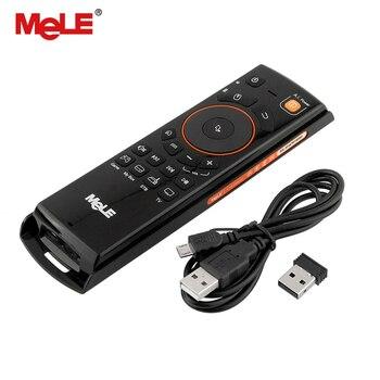 Mele F10 Deluxe Fly Air Mouse 2.4 ghz Teclado Sem Fio com Controle Remoto com Função de Aprendizagem IR Para Smart Tv Android box Mini Pc