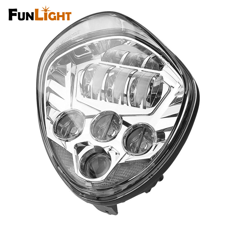 HOT Sale Chrome Motos accessories Motorcycle Led Headlamp Victory Motorcycle LED Headlight lamps For Victory cross country