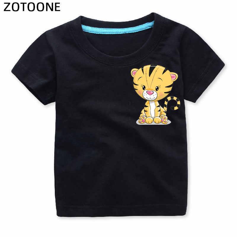 Zotoone ストレンジャーもの漫画かわいい動物アイアンでパッチ子供のための tシャツ diy のパッチステッカー服 g の熱転送