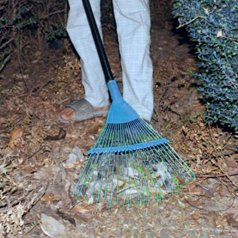 11Teeth Rake Head Plastic Garden Lawn Gardening Carbon steel 30*20cm Working