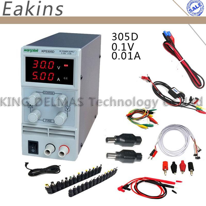 high quality DC Power Supply sets KPS 305D Mini Adjustable Digital Switching Power supply 30V/5A 0.1V/0.01A +DC JACK SET Repair sw3010d mini digital dc regulator adjustable power supplier 30v 10a 110v 220v voltage switching power supply