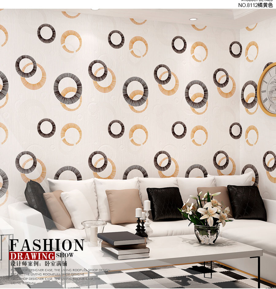 10m Waterproof Circle Classical Wallpaper for Wall 3d Living Room Mural Rolls Kitchen Cupboard Wall Paper Background Decor shinehome black white cartoon car frames photo wallpaper 3d for kids room roll livingroom background murals rolls wall paper