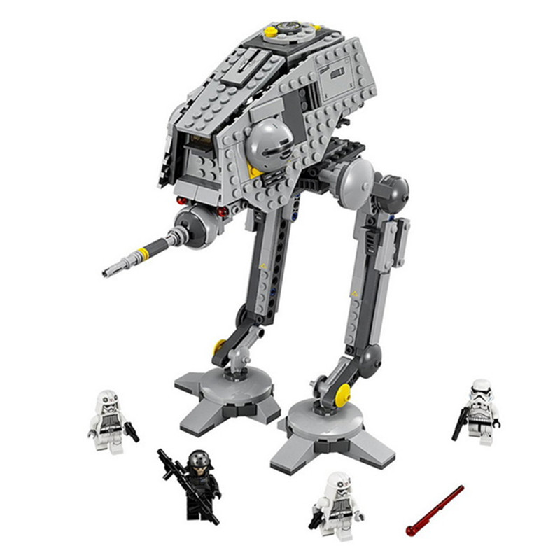 499pcs Diy Movie Series Star Wars AT-DP Rebels Animated Model Building Blocks Compatible With Legoingly Toys For Children Gifts hot new compatible legoinglys star wars series motorized walking at at model robot building blocks toys for children gift