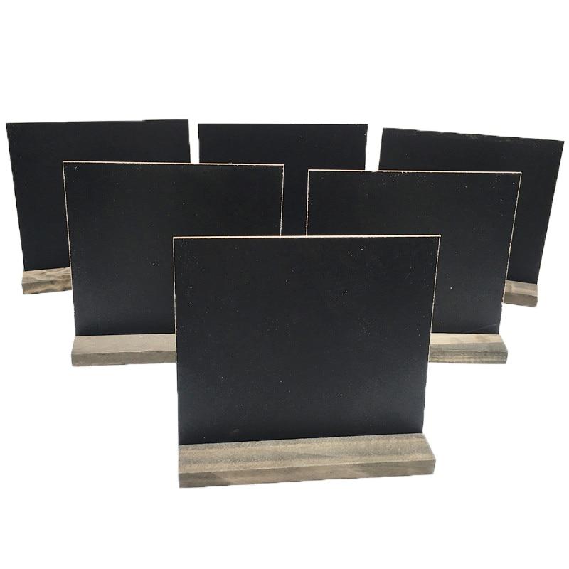 1x Mini Blackboard Chalkboard With Stand Place Card Wordpad Rectangle Angled JO