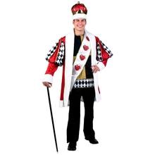 adult menu0027s deluxe king of hearts alice in wonderland halloween costumes
