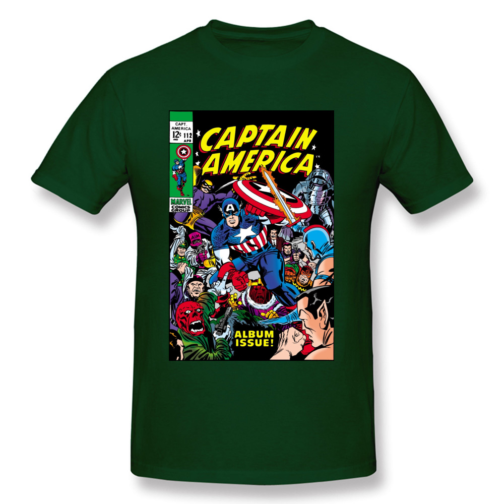 Captain-America-Comic-611 Party Tops Tees Short Sleeve for Men Cotton Summer/Fall O Neck T-Shirt Hip hop Tee Shirt New Coming Captain-America-Comic-611 dark