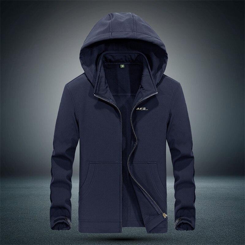 2017 Winter jacket men velvet warm Windbreaker parka mens waterproof outdoorsports military hooded casual coat waterproof jacket