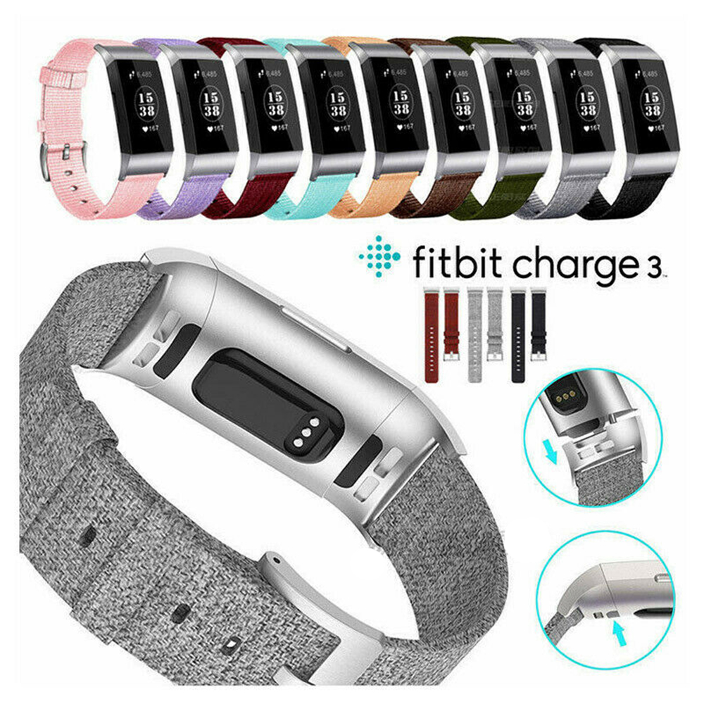 Watch Strap Watchband Accessories  For Fitbit Charge 3 2019 Fashion Military Nylon Watch Band Durable Ballistic