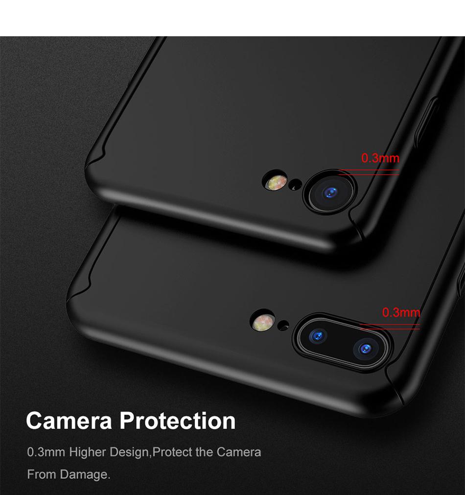 Floveme 360 pełna ochronne twarde etui na telefony iphone 6 6s plus 7 7 plus coque luksusowe odporny na wstrząsy case + ekran szkła Protector 3