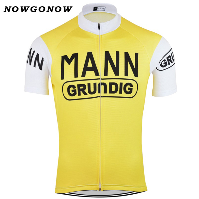 NOWGONOW 1943 Retro Cycling Jersey men yellow vintage pro team Clothing  Bike Wear MTB road tops Maillot summer ven Polyester 2f98e2d6a