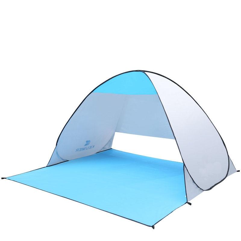 Tente de plage En Plein Air auvent Automatique vitesse ouverture Fold Double de pêche tente reste Plage tentes Soleil ombrage dans le parc étanche dans Abri du soleil de Sports et loisirs