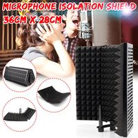 Adjustable Foldable Microphone Acoustic Isolation Shield Alloy Acoustic Foams Panel Studio Recording Microphone Accessories