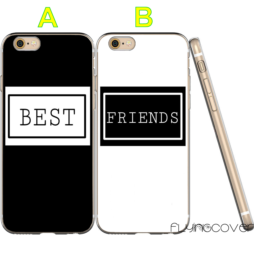 Coque Black Sister BFF Best Friend Clear Soft TPU Silicone Cover for iPhone X 7 8 Plus 5S 5 SE 6 6S 5C 4S 4 iPod Touch 6 5 Cases