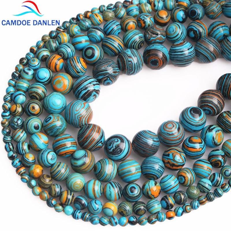 PCS pierres précieuses À faire soi-même Fabrication De Bijoux Artisanat Aigue-marine perles rondes 6 mm bleu 60