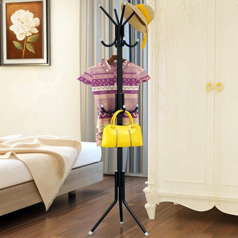 3-Tier Metal Coat Rack Hall Tree Stand Jacket Bag Hanger Tree 12 Hooks Storage