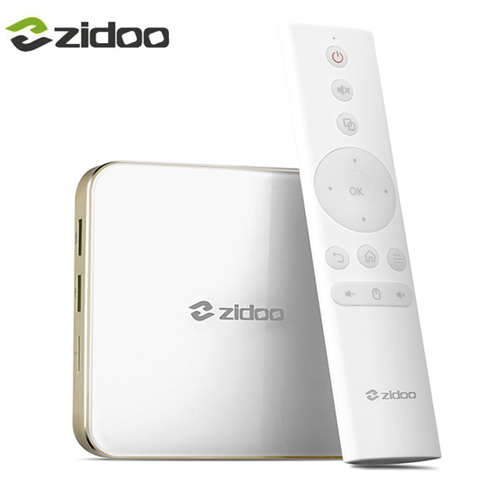 ZIDOO Android 7.0 TV Box 2GB DDR4 16GB eMMC Smart Color 3.0 WIFI Bluetooth BT4.1 H265 H6 PRO zidoo a5s android 6 0 smart tv box s905x cortex 64bit 2 0ghz 2g 16g wifi 4k hdmi h 265 eeay cast kodi google play store