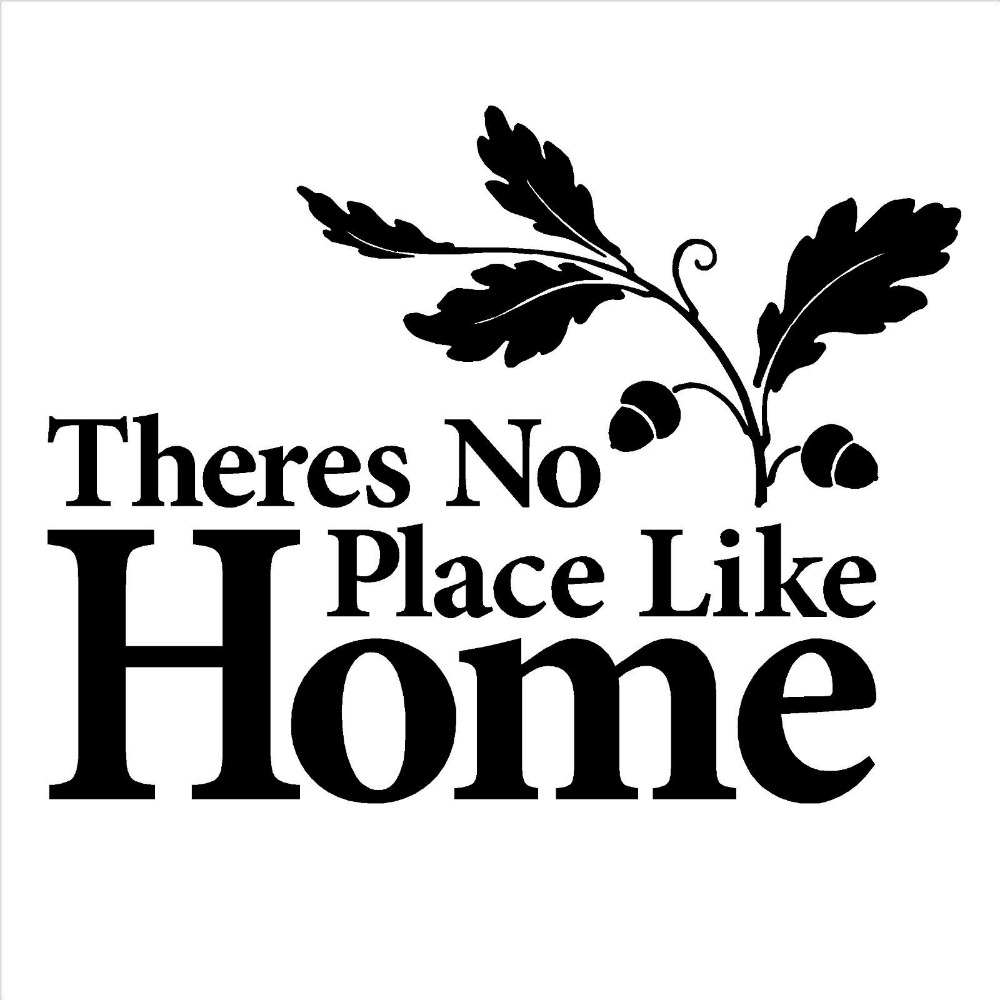 Theres No Place Like Home Vinyl Wall Art Sticker Decal Quote